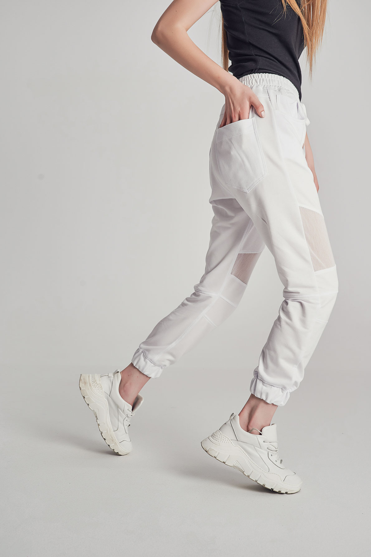 Pantaloni SeethroughCut Albi