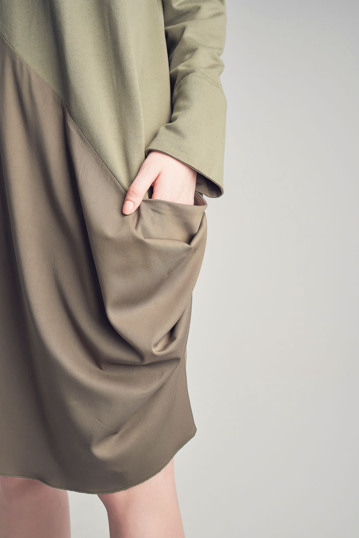 Daria Khaki Dress