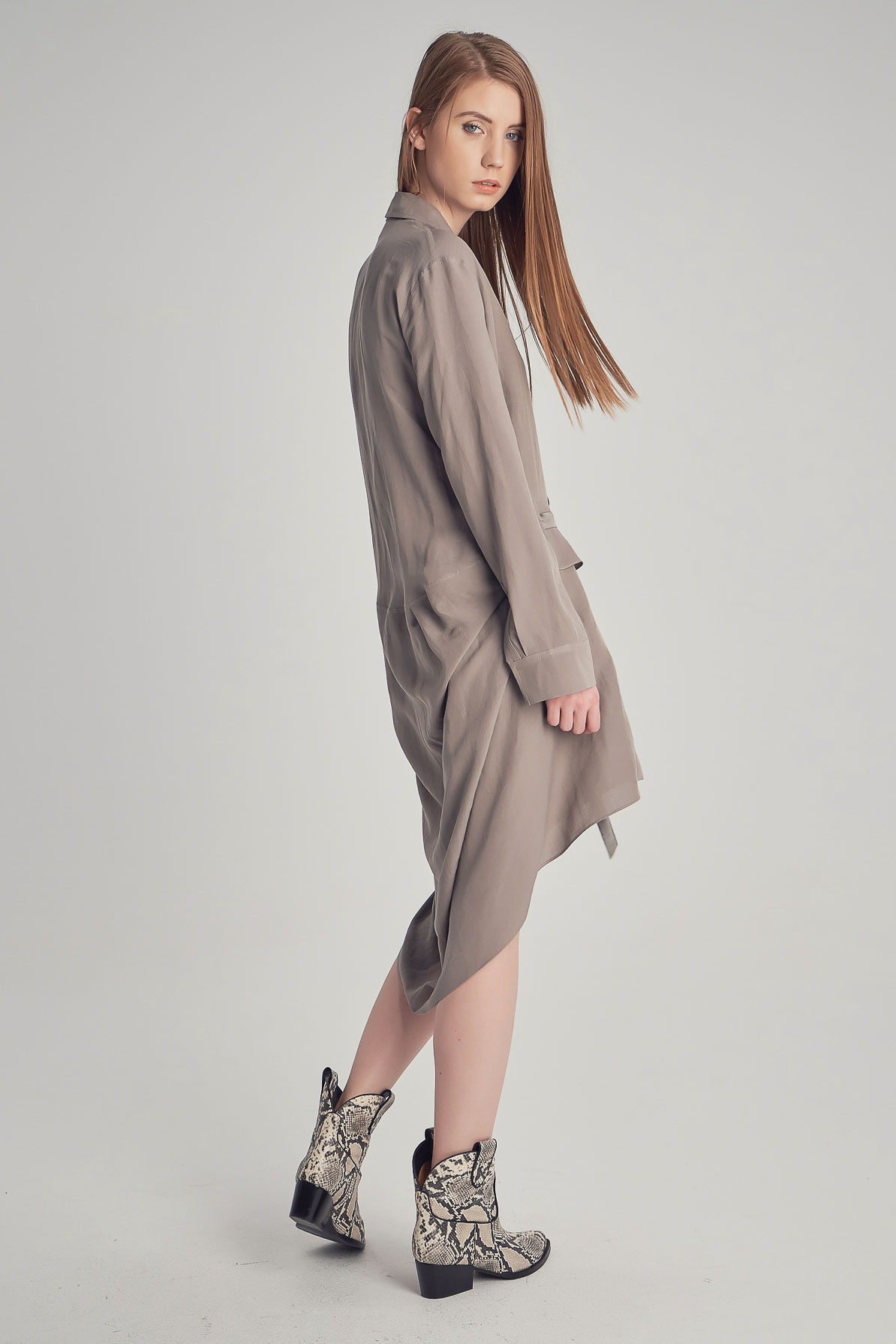 Grey Carlie Dress