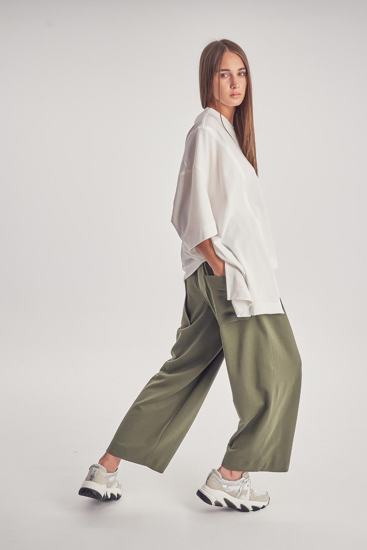 Pantaloni Dona Khaki