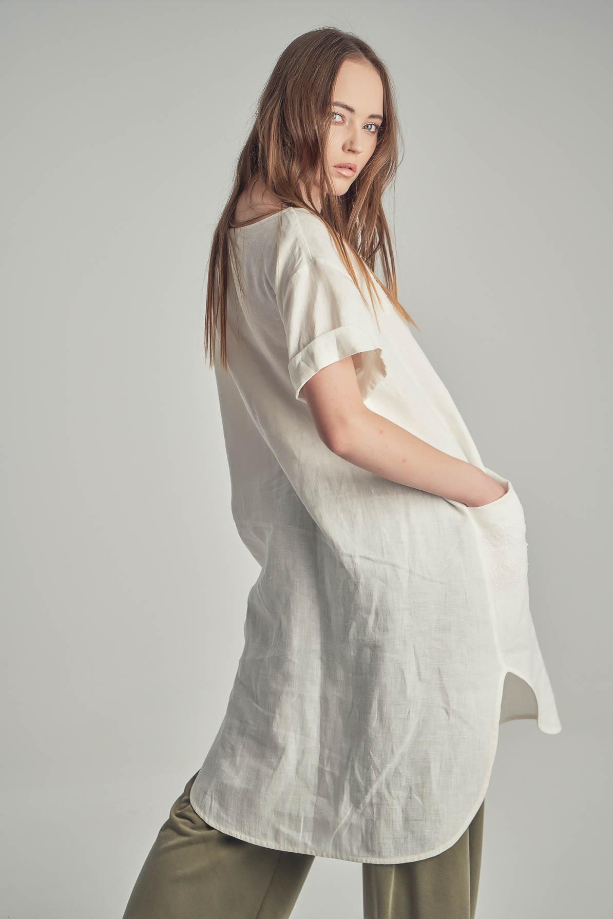 Bluza - Rochie Georgia White