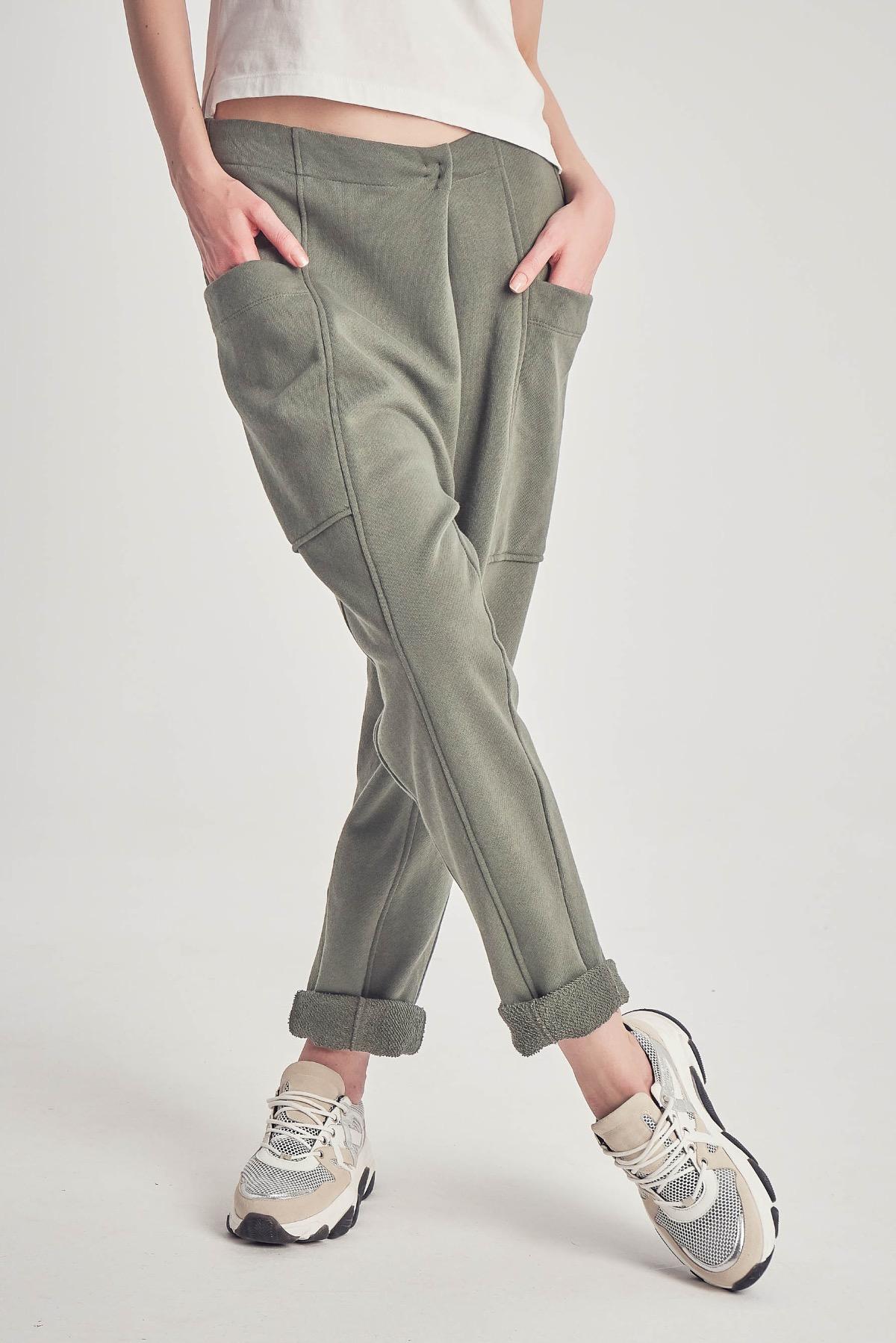 Pantaloni Vogue Khaki