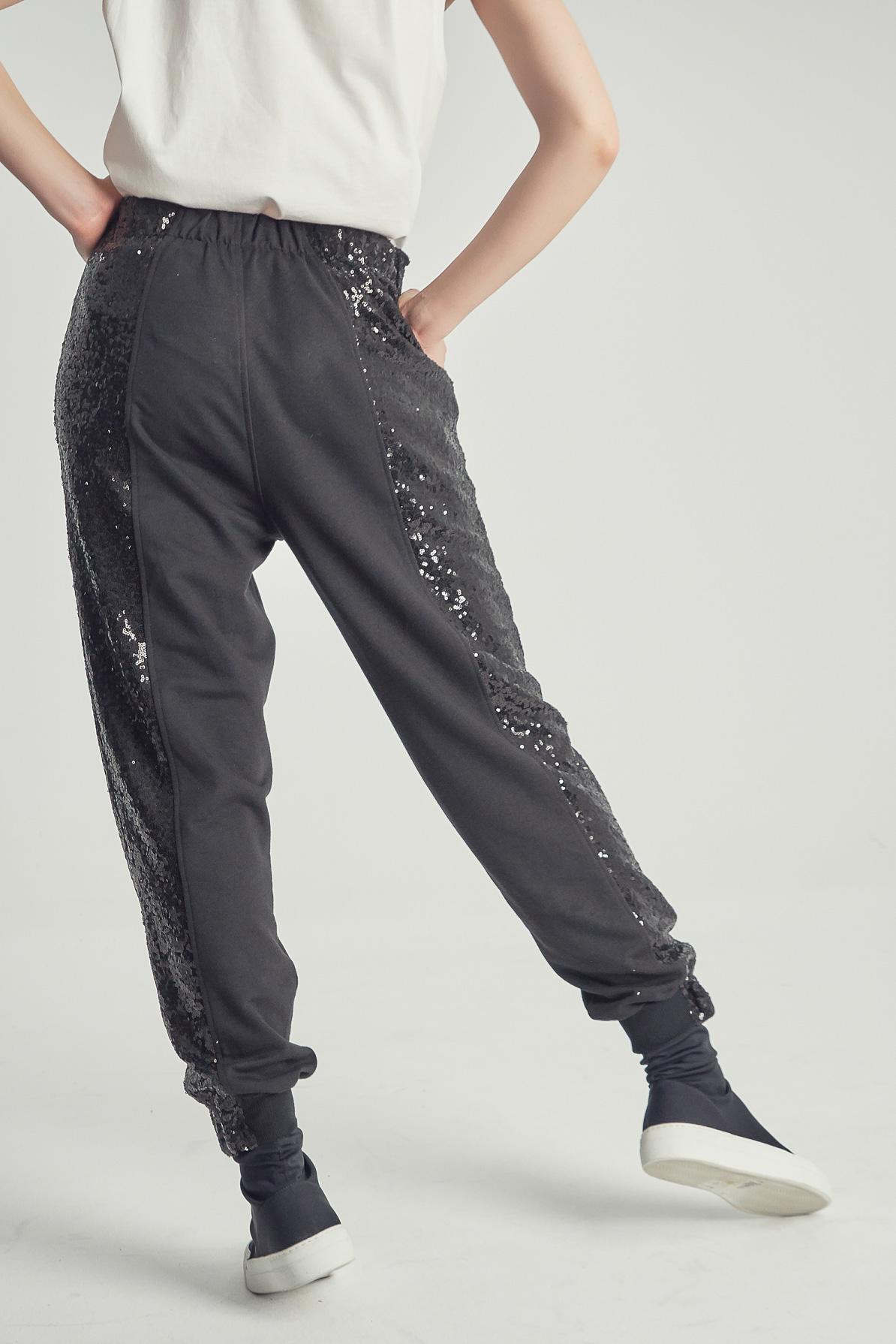 Pantaloni Spangles Black