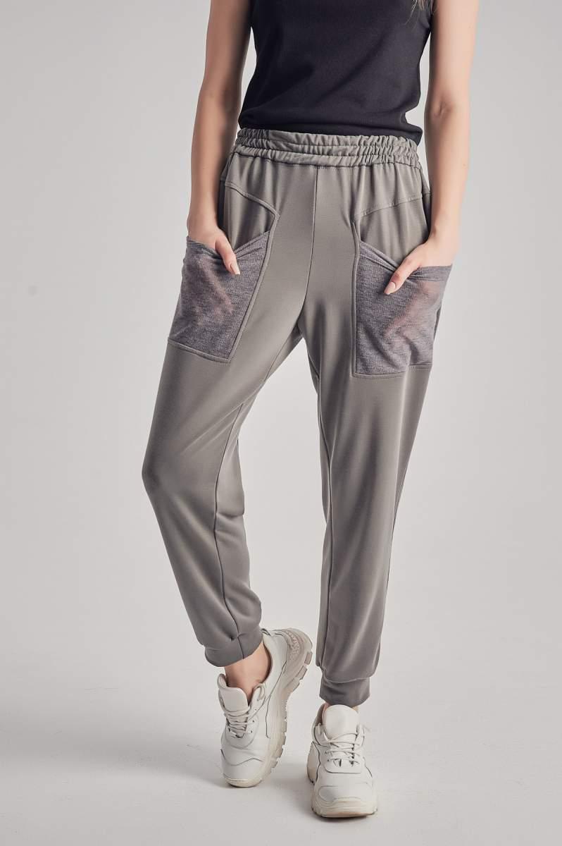 Pantaloni Tulle Gri
