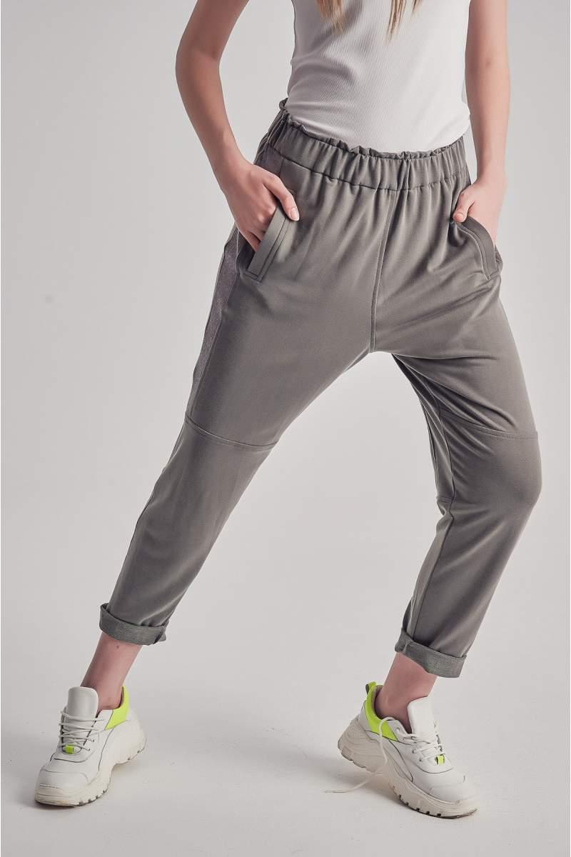 Pantaloni Sheer Line Gri