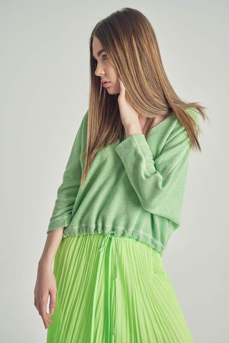 Bluză Vintage Verde
