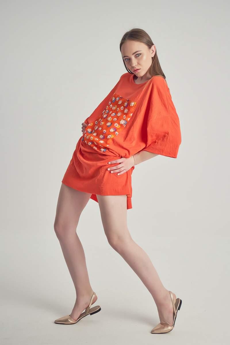 Rochie-Tricou Soft Sienna