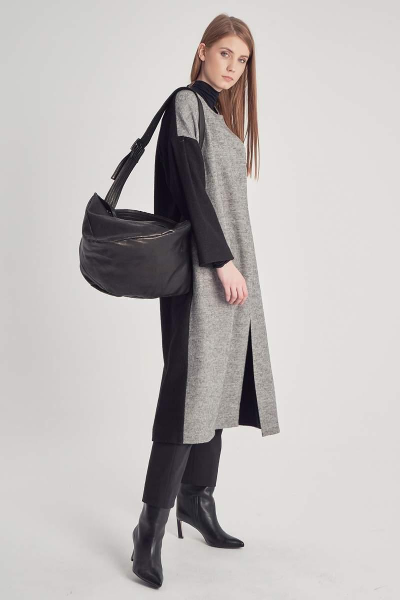 Palton Bicolor Black