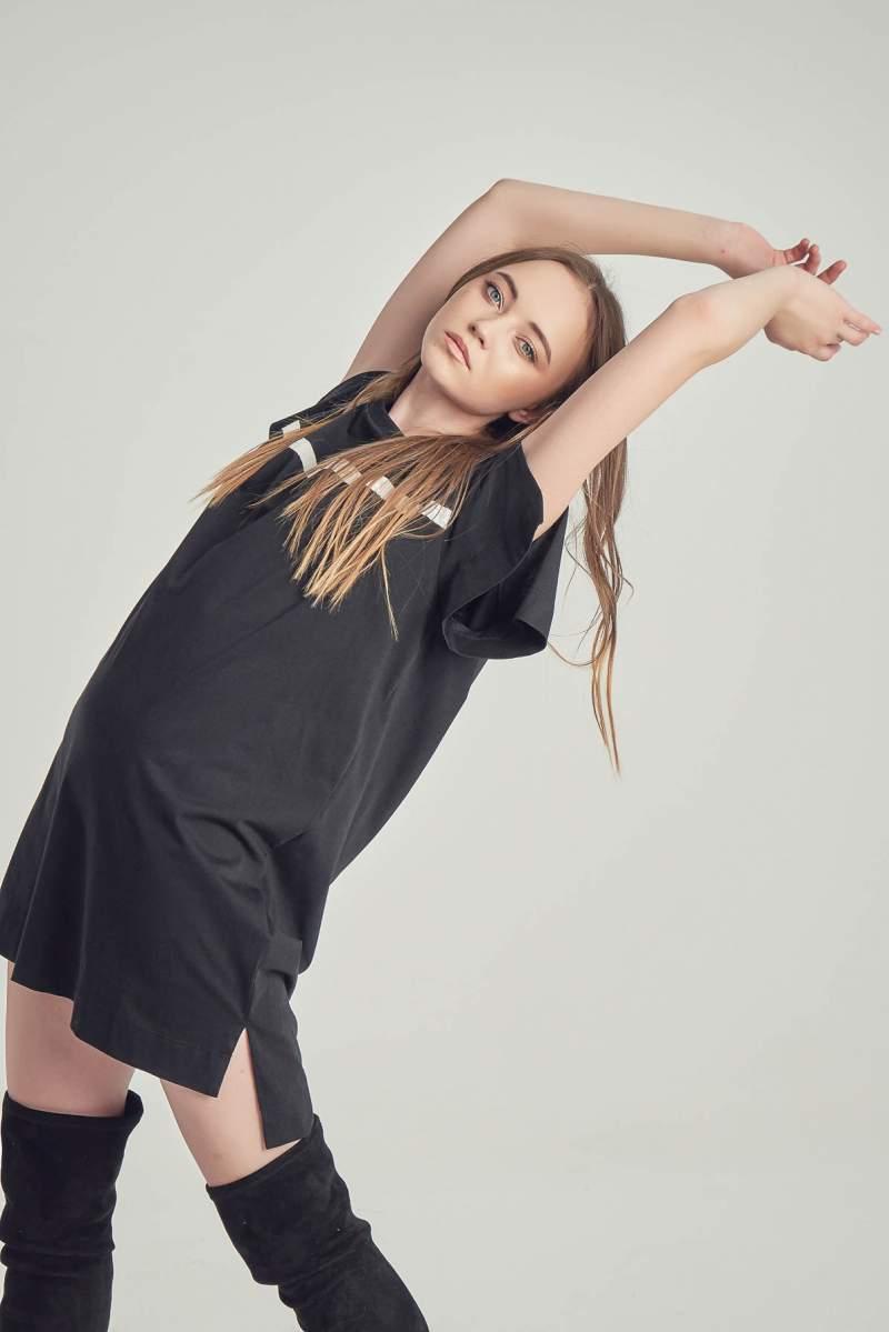 Rochie-tricou Black Nancy