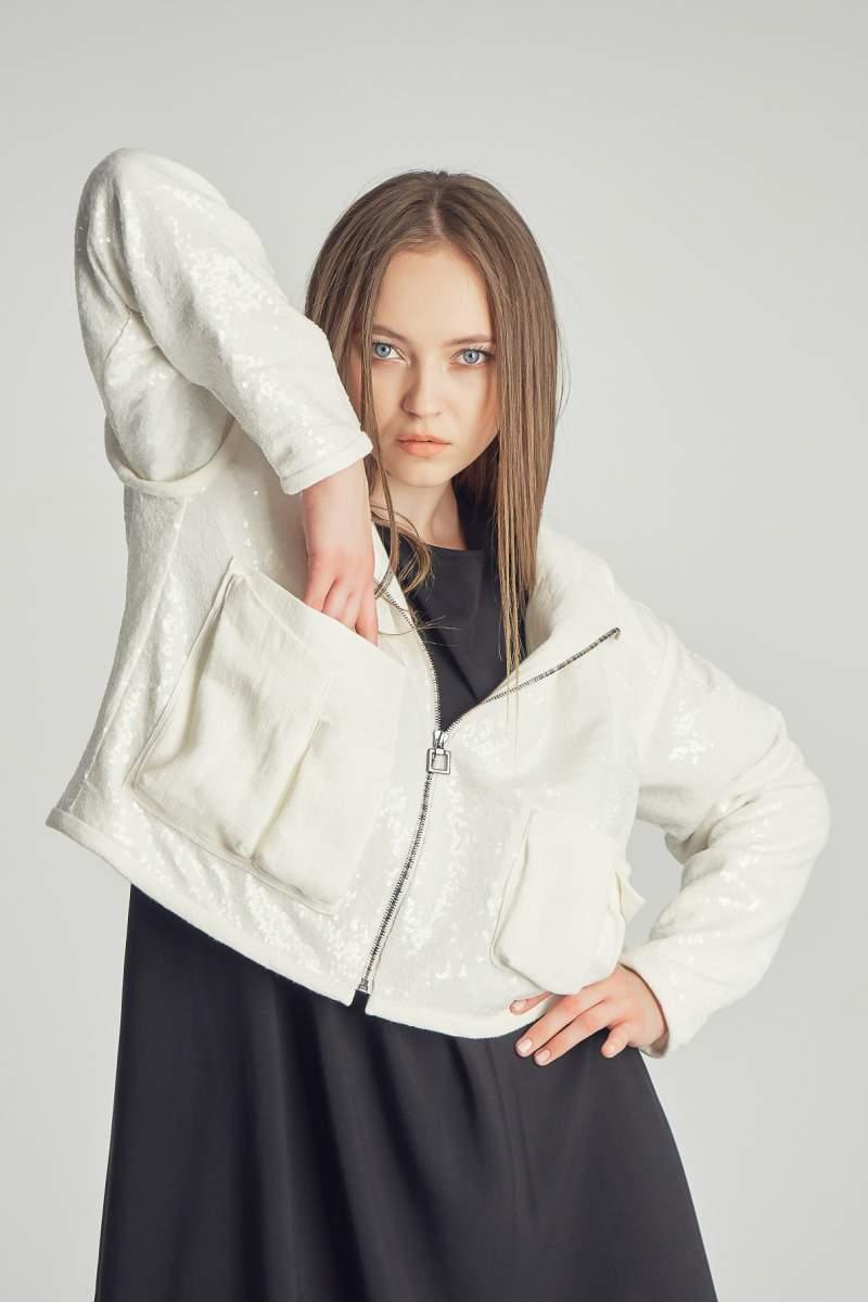 Jachetă Glam Rock Albă