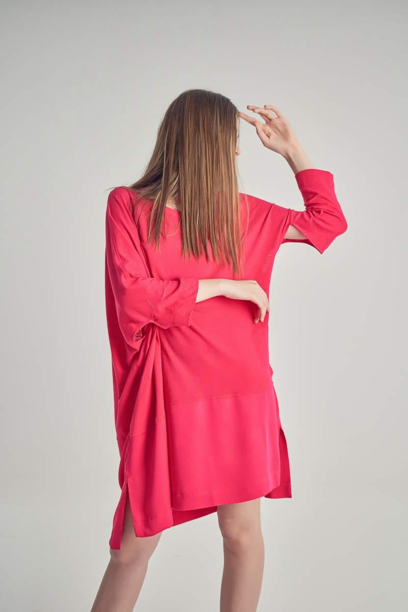 Rochie-tricou Jesse Fuchsia