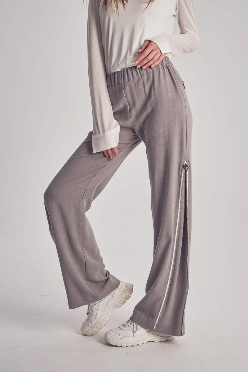 Grey Zipline Pants