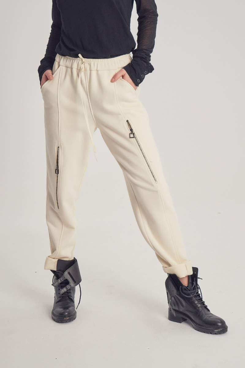 Ivoire Short Zip Pants