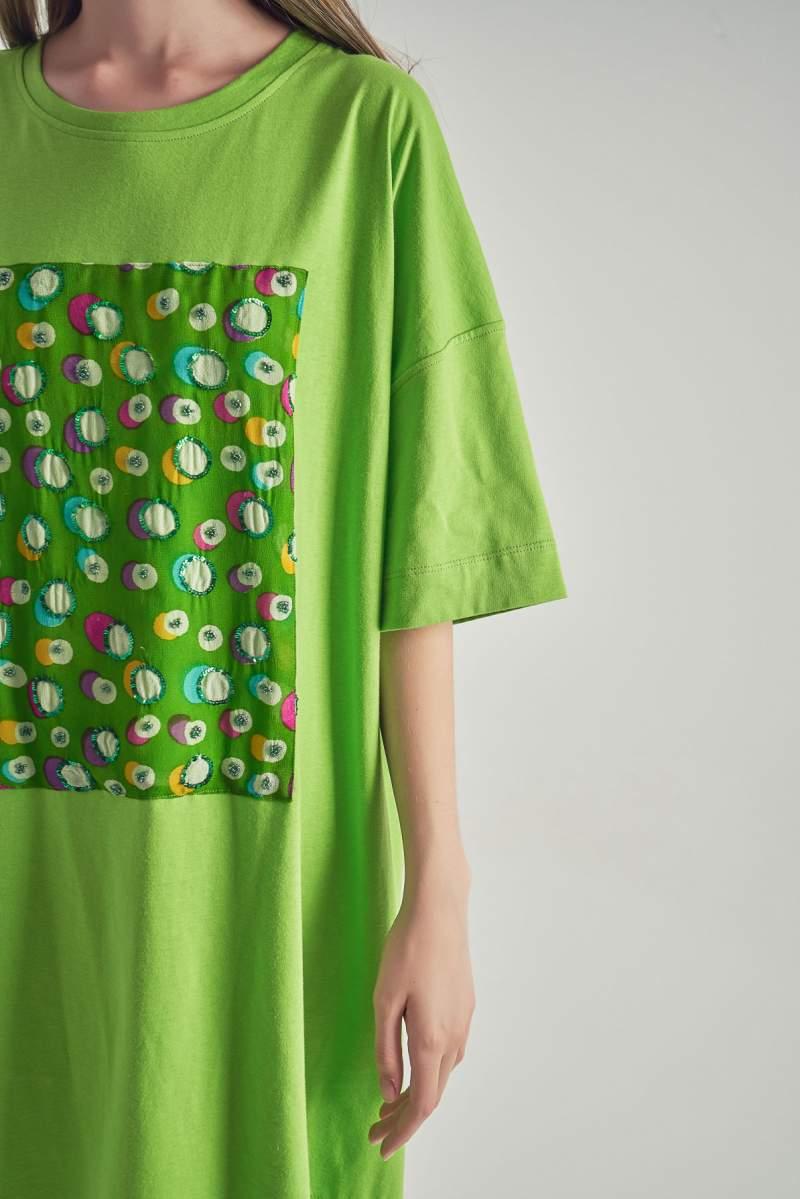 Rochie-tricou Soft Greenery