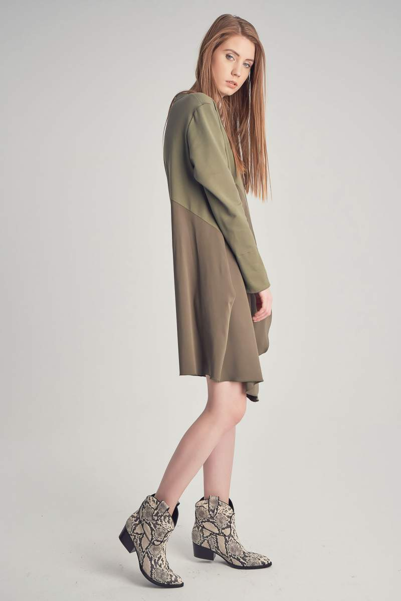 Daria Khaki Dress