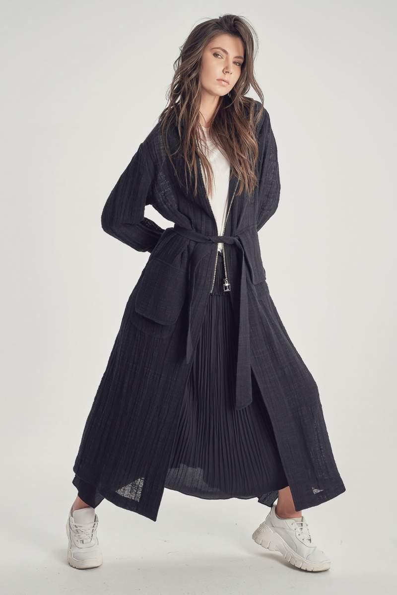 Jachetă Long Linen