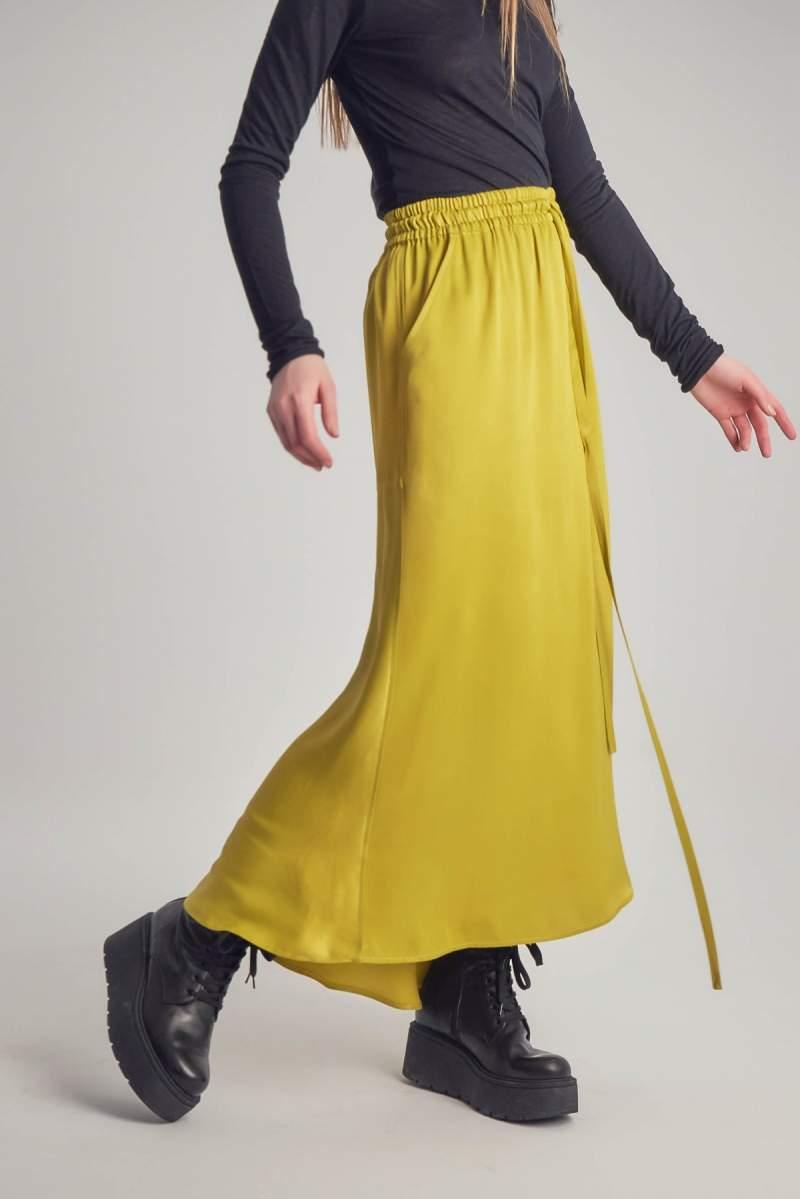 Fusta Yellow Satin