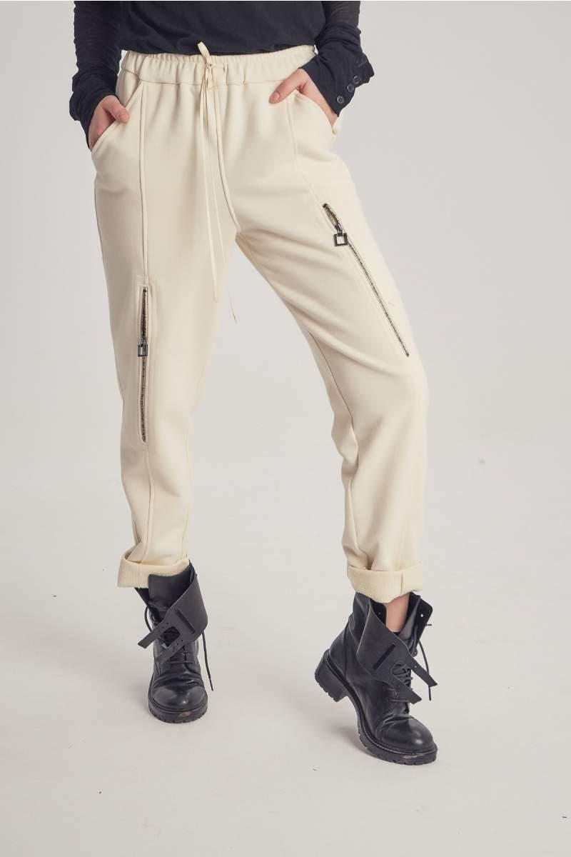 Ivoire Short Zip Pants